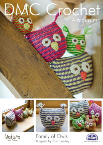 DMC  FAMILY OF OWLS Crochet TOY Pattern.